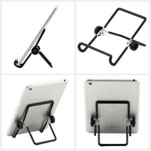 Universal Metal Foldable Tablet PC Holder Stand for 7 inch Tablet PCs - Black