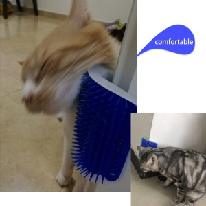 Pet Cat Comb Brush Wall Corner Massage Device Dog Cat Hair Removal Brush Comb