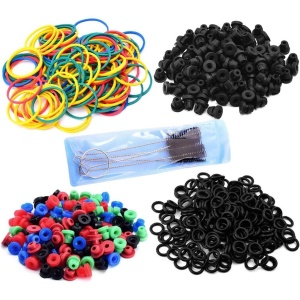 Tattoo Accessories Tattoo Rubber Bands + O-Rings + A-bar Grommet Nipple + Grommets + Brush Set