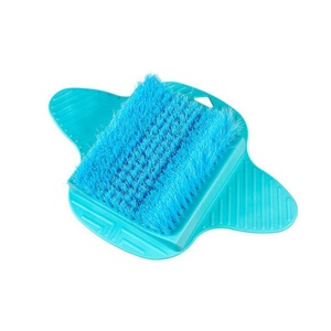 Blue - Foot Dead Skin Massage Relax Scrub Shower Feet Care Remove Brush