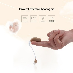 JZ-1088F Rechargeable Hearing Aids Personal Sound Voice Amplifier Behind Ear - US Plug