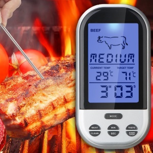 TS-BN52 Wireless Remote Smoker Meat Food Thermometer Kitchen Cooking Oven BBQ + Dock