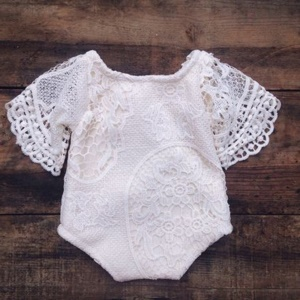 Baby Girls Lace Bat Sleeve Toddler Bodysuit Romper Jumpsuit Outfits Daily