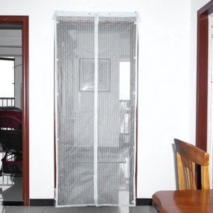 Magnetic Curtains Automatic Closing Anti Mosquito Curtain - White / 110x210cm