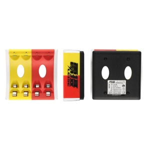 LEISE Yellow & Red 4 Slots Smart USB Charger for AA & AAA Ni-MH Batteries