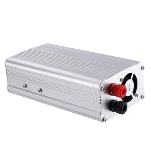 SAA1500W Car Auto Power Inverter Aluminum Alloy Voltage Inverter DC12V to AC110V (1500W) - Silver