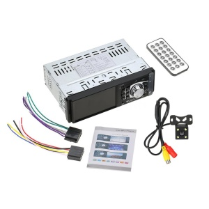 4012B 4.1 inch 1 Din MP5 Player Car Radio Auto Audio Stereo [with FM Function] - With Camera