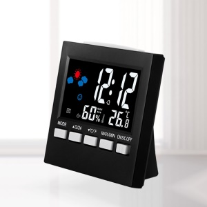 Backlight Voice Control Digital Electronic Temperature Humidity Monitor Clock
