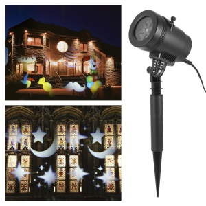 Waterproof Christmas 4 x 1.5W LED Laser Projector Dynamic Film - Black / US Plug