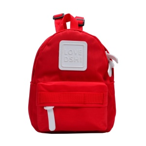 Red - Large Waterproof Zipper Children Backpacks Kindergarten School Bag Backpack