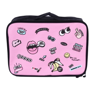 Cartoon Lovely Outdoor Travel Clothes Storage Bag Airplanes Boarding Bag - Pink