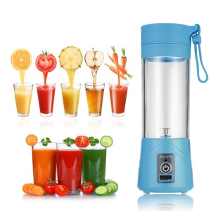 380ml Rechargeable Portable Blender USB Juicer Cup Fruit Mixing Machine - Blue