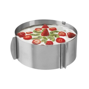 Adjustable Stainless Steel Round Mousse Cake Model
