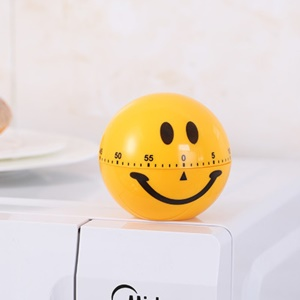 Smile Face Kitchen Cooking Timer Alarm 60 Minutes Mechanical Time Reminder