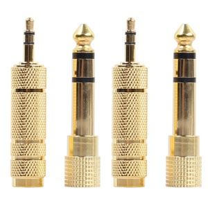 2 x 6.35mm Male to 3.5mm Female Adapter + 2 x 3.5mm Male to 6.35mm Female Adapter