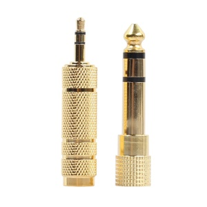 6.35mm Male to 3.5mm Female Jack Adapter + 3.5mm Male to 6.35mm Female Adapter