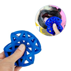 HOOPET Leakage Ball Hollow Out Pet Feed Interacting Training Ball Rubber Dog Toys