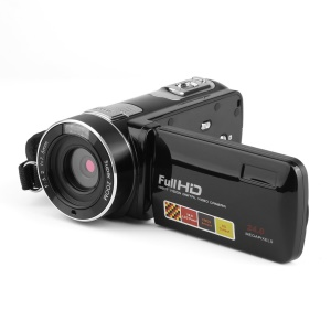 Night Vision FHD 3.0 Inch LCD Screen 18X 24MP Digital Video Camera Camcorder - Black / US Plug
