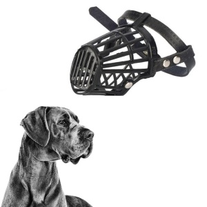 Strong Dog Muzzle Basket Anti-Biting Mouth Cover Dog Adjustable Straps Mask