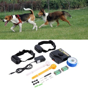 Waterproof New Underground Electric Dog Fence Fencing System 2 Shock Collar - CN Plug
