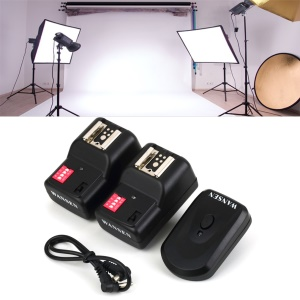 Wireless 4 Channels Practical Flash Trigger Transmitter with 2 Receivers