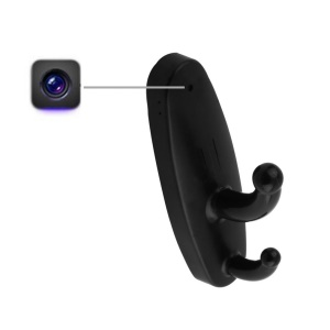 HD Motion Detection Clothes Hook Hanger Spy Camera DV Cam Support 16GB - Black