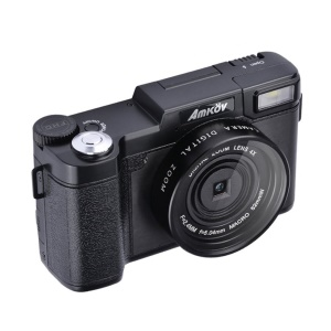"Amkov AMK-R2 24MP 1080P 3.0"" LCD Rotatable Screen Digital SLR DV Recorder Camera"