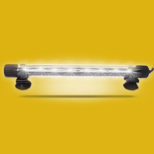 Amphibious Use Aquarium Submersible LED Light - ZY-15B-17cm / White