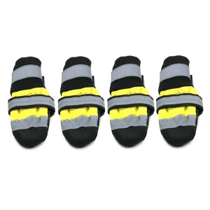Waterproof Reflective Shoes Rain Snow Boots Thick Warm Socks Booties for  Cats Dogs - Size: XL