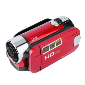 2.7 inch TFT LCD HD 720P Digital Video Camera Camcorder 16X Zoom DV Camera - Red / EU Plug