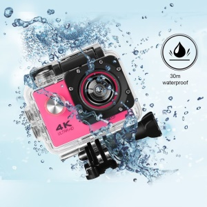 SJ60 2.0-inch LCD Waterproof 4K Wifi HD 1080P Sports Camera Camcorder - Rose
