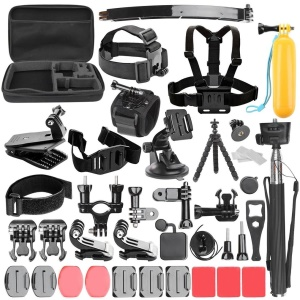 Sports Action Camera Accessories Set With 360° Rotation Clip Handle Grip