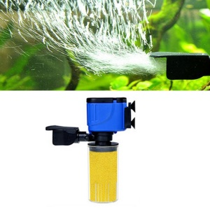 ZHIYANG 3 in 1 Aquarium Filter Fish Tank Submersible Oxygenation Pump Spray - AQ-101F-12W