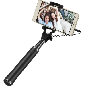 XIAOMI Wired Selfie Stick Extendable Handheld Monopod Shutter Holder for Phone - Black