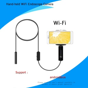 8.0mm 1.3MP Wifi Endoscope Camera IP67 Borescope Camera for Android iPhone