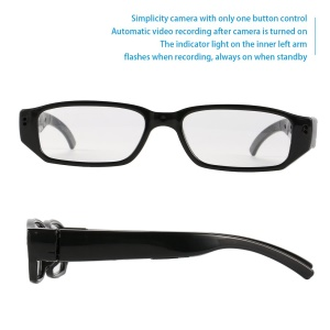 720P HD Camera Eyewear Wide Angle Lens Mini Real Time Recorder Camcorders