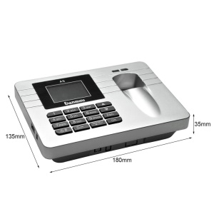 DANMINI A5 2.4-Inch Screen Fingerprint Recorder Employee Attendance Machine - Silver / US Plug