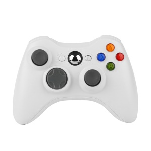 Wireless 2.4GHz Game Controller for Microsoft Xbox 360 - White