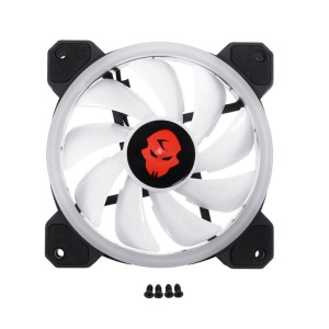 Double Ring Computer PC Cooler Cooling Fan 366 Modes 10 Level 120mm RGB LED Fan - 1 Piece / Without Remote Control