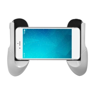Retractable Clip Hand Grip Game Handle Game Controller Phone Holder for Cell Phone - White