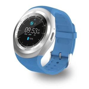 Y1 1.2 inch Touch Screen Bluetooth 3.0 Smart Watch Support SIM Card - Blue