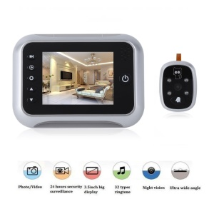 518 3.5 inch LCD Digital Peephole Viewer 120 Degrees Doorbell Door Eye IR Camera
