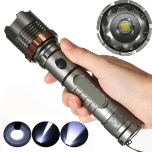 ELFELAND Tactical Military T6 2000 Lumens Aluminum Alloy Flashlight