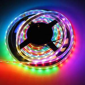 5m 150 LEDs WS2812B 5050SMD Strip Light 5V Individual Addressable Strip Light - Non-waterproof / Black