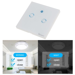 SONOFF Touch Control Smart Wall WiFi Light Switch Glass Panel Touch LED Light Switch - 2 Modes / UK Plug