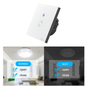 SONOFF Smart Touch Control WiFi  Wall Light Switch Glass Panel Touch LED Light Switch - 1 Mode / EU Plug