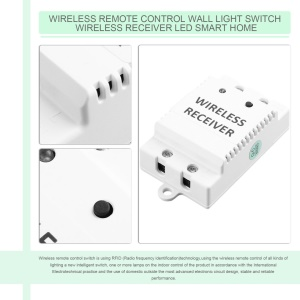 Wireless Remote Control Wall Light Switch Wireless Receiver LED Smart Home