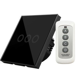 3-way Remote Control Touch Switch Wall-mount With Remote Controller EU Y603B