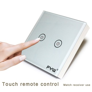FYW Home Smart Touch Wall Control Wall Switch Ultra-slim with Sticker Two Way