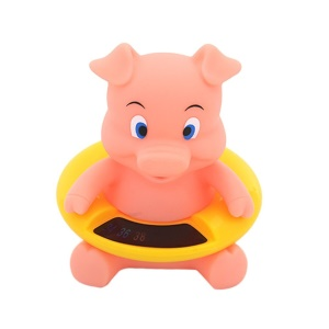 Piggy - Water Thermometer Cute Cartoon Animal Shape Baby Bath Thermometer Kid Bath Toy